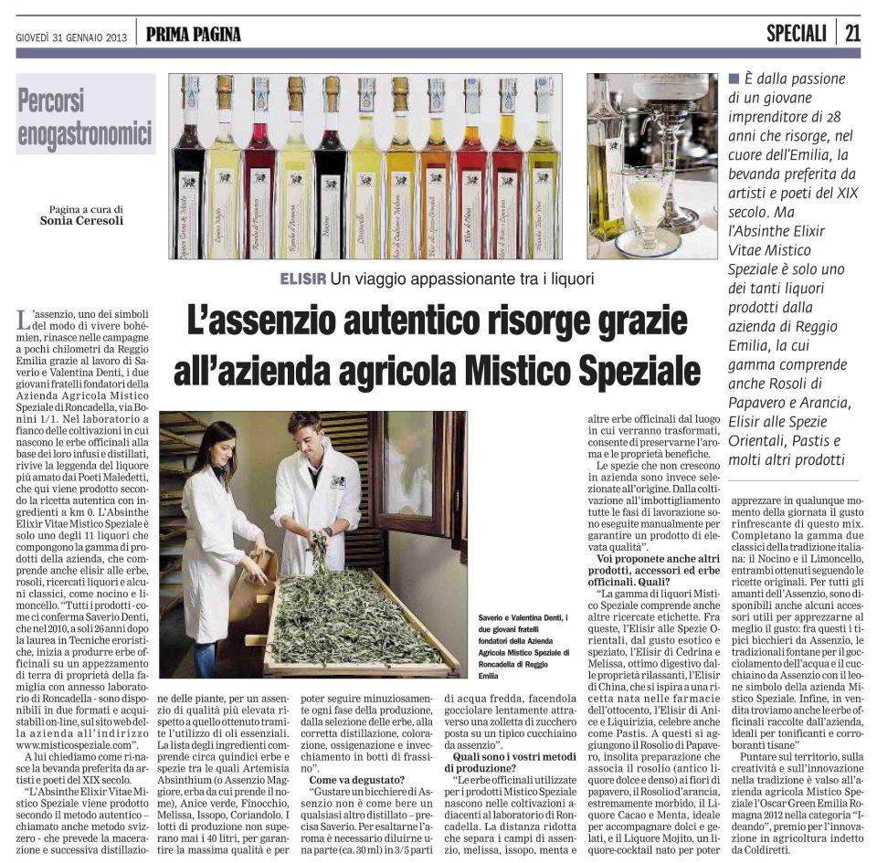 prima pagina gennaio 2013